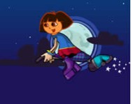 Dora at halloween night online