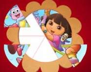 Dora the Explorer round puzzle online